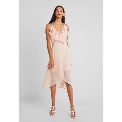 ヴィラ ワンピース レディース トップス VIJOYO FLOUNCE DRESS - Cocktail dress / Party dress - rose smoke