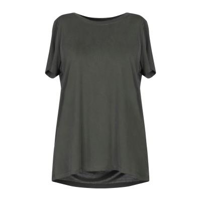 MINIMUM T シャツ ダークグリーン M レーヨン 65% / ポリエステル 35% T シャツ