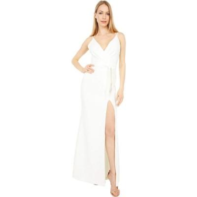 ランドリー LAUNDRY BY SHELLI SEGAL レディース パーティードレス ワンピース・ドレス Wrap Tie Gown Ivory