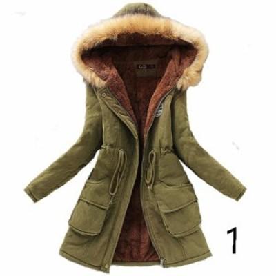 送料無料 裏ボア 中綿 モッズコート ミリタリーコート レディース 中綿コート 裏起毛 ロング 防寒