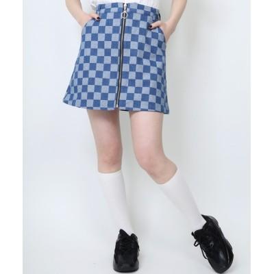 WEGO / WC/【セットアップ対応商品】フラッグチェックデニムスカート WOMEN スカート > デニムスカート