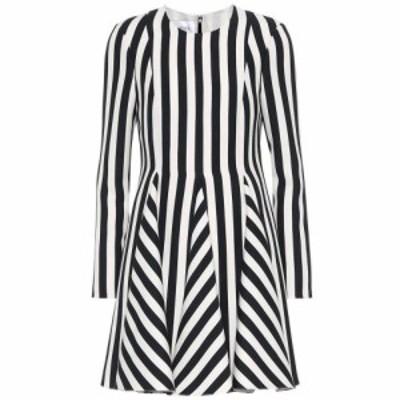 ヴァレンティノ Valentino レディース ワンピース ワンピース・ドレス Striped wool and silk dress Nero/Bianco