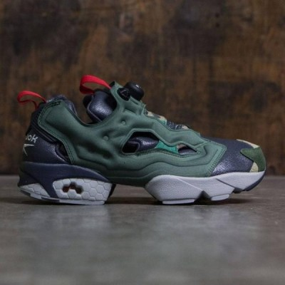 リーボック メンズ シューズ  Reebok Men Instapump Fury OG Villains (black / primal green / baseball grey / scarlet / silver metallic)