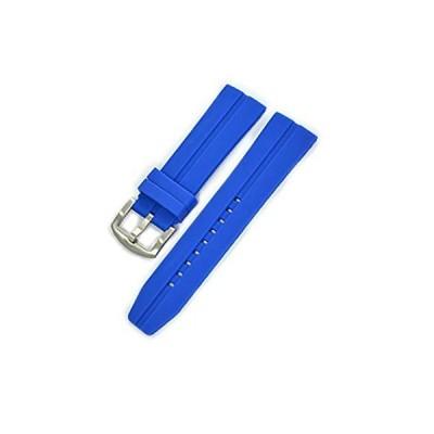 【新品・送料無料】CASSIS[カシス] ラバー 時計ベルト 完全防水 CREMONA クレモナ 24mm ダークブルー 交換用工具付き ULS00376062024M
