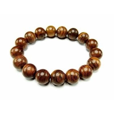 『癒しの香り』虎紋檀木大玉12mm木製数珠ブレスレット