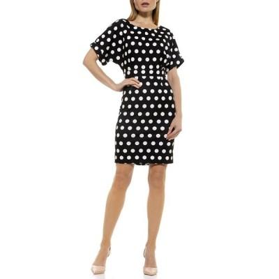 アレクシアアドマー レディース ワンピース トップス Polka Dot Dolman Sleeve Dress BLACK/WHITE
