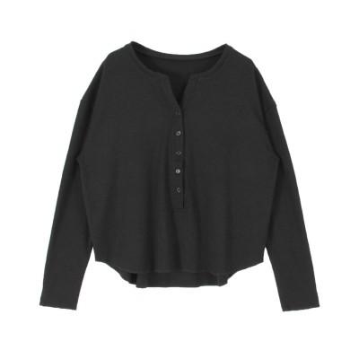 ティティベイト titivate ヘンリーネック長袖Tシャツ (ブラック)