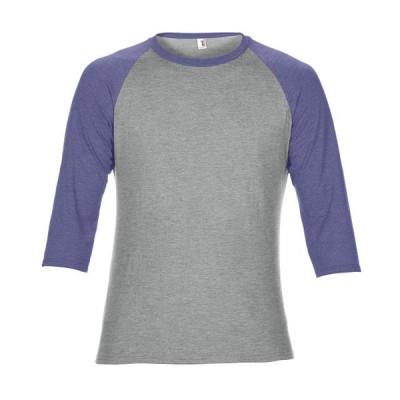 メンズ 衣類 トップス Anvil Men's Tri-Blend 3/4 Sleeve Raglan T-Shirt - 6755 Tシャツ