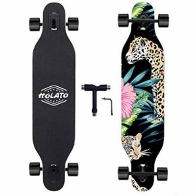 HOLATO スケートボード ロングボード レオパード