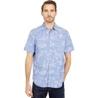 ノーティカ Nautica メンズ シャツ トップス Oxford Print Sportshirt Blue