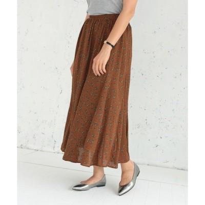 スカート 綺麗フレアスカート(フラワー) *