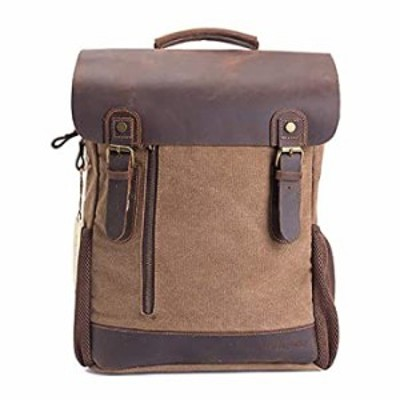 2820 Canvas Laptop Backpack Bag (Coffe)