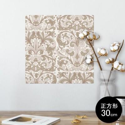 ポスター ウォールステッカー シール式 30×30cm Ssize 壁 インテリア おしゃれ 剥がせる wall sticker poster 模様 シンプル ブラウン 004437