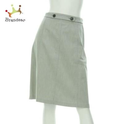 クミキョク 組曲 KUMIKYOKU スカート サイズXS レディース 美品 グレー系 台形スカート   スペシャル特価 20210227
