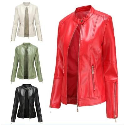 人気のレザージャケットが秋になってリバイバルライダースジャケット レディース PUショートコート フェイクレザーアウター PU革ジャケット大きいサイズ秋新作
