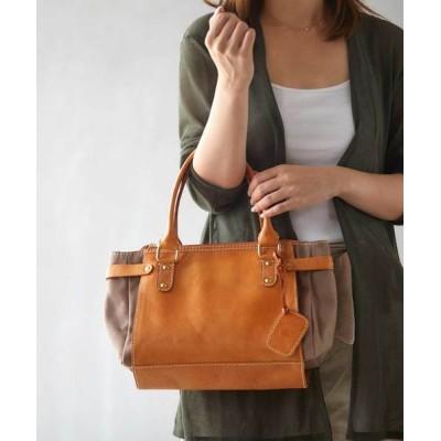 Lumie / 【fes/フェス】キャンバス×カウレザーハンドバッグ WOMEN バッグ > ハンドバッグ