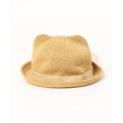 こどもの森e-shop / くま耳日よけ付サーモハット KIDS 帽子 > ハット