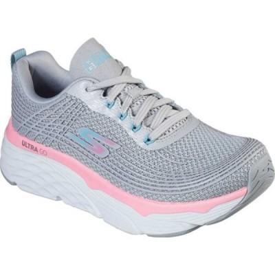 スケッチャーズ スニーカー シューズ レディース Max Cushioning Elite Running Sneaker (Women's) Gray/Pink