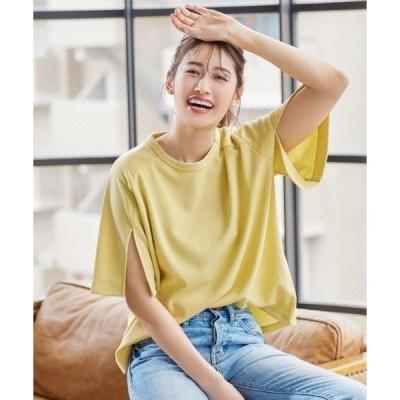 tシャツ Tシャツ スリットスリーブTシャツ