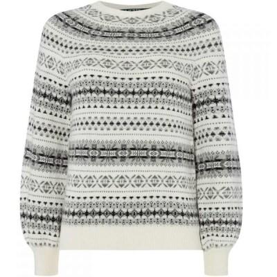ラルフ ローレン Lauren by Ralph Lauren レディース ニット・セーター トップス Philantha patterned sweater Cream