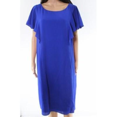 Jessica Howard ジェシカハワード ファッション ドレス Jessica Howard NEW Blue Ruffled Womens Size 18W Plus Shift Dress