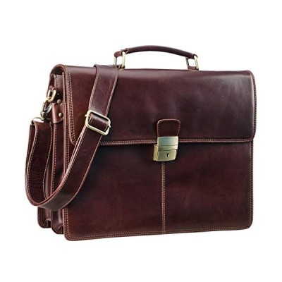 STILORD 'Edward' Business Bag Men's Briefcase Laptop Bag Real Cow Leather, Colour:Polo - Brown 並行輸入品
