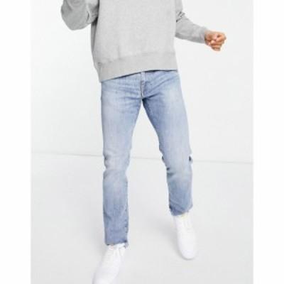 エドウィン Edwin メンズ ジーンズ・デニム ボトムス・パンツ ED55 regular tapered fit jeans in light wash ブルー