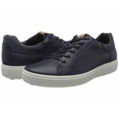 エコー スニーカー シューズ メンズ Soft 7 Street Sneaker Marine/Marine/Navy