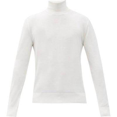 ドルチェ&ガッバーナ Dolce & Gabbana メンズ ニット・セーター トップス Roll-neck wool sweater White