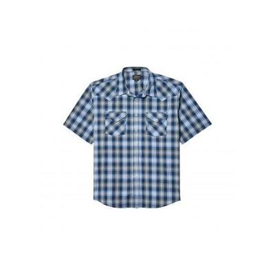 Pendleton ペンドルトン メンズ 男性用 ファッション ボタンシャツ Frontier Shirt Short Sleeve - Blue/Black Ombre