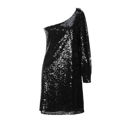 ブルーガール ブルマリン BLUGIRL BLUMARINE ミニワンピース&ドレス ブラック 42 ポリエチレン 90% / ポリエステル 10%