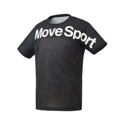 【デサント】 グラフィック 半袖Tシャツ メンズ ブラック系 S DESCENTE