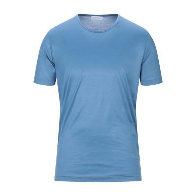 グラン サッソ GRAN SASSO T シャツ パステルブルー 50 コットン 100% T シャツ