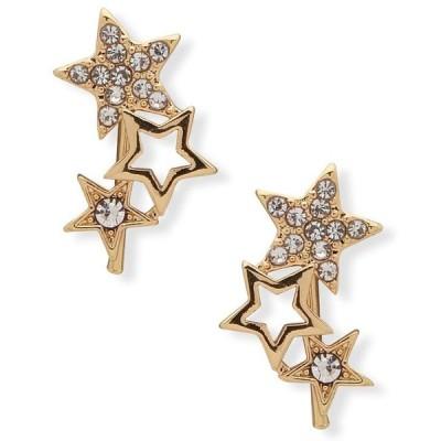 ローナ&リリー レディース ピアス・イヤリング アクセサリー Gold-Tone Crystal Star Drop Earrings