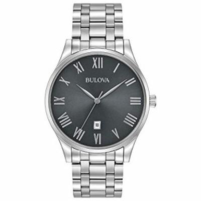 腕時計 ブローバ メンズ Bulova Men's Analog-Quartz Watch with Stainless-Steel Strap, Silver, 20 (Mode