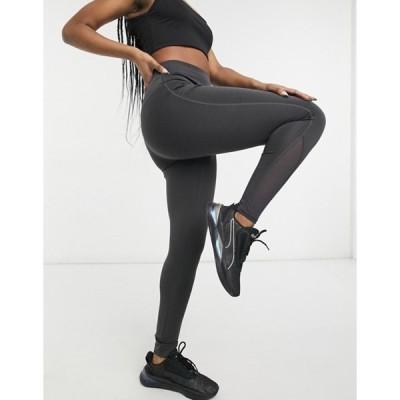 サウスビーチ レディース レギンス ボトムス South Beach performance leggings with mesh inserts in black