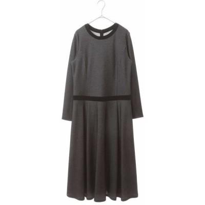 HIROKO BIS/ヒロコビス 【洗える】バーズアイジャカードワンピース ブラック 09