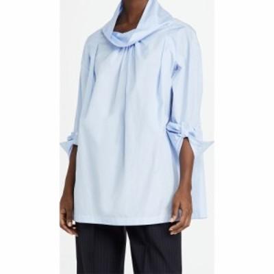 スリーワン フィリップ リム 3.1 Phillip Lim レディース ブラウス・シャツ トップス Poplin Oversized Drape Collar Shirt Oxford Blue