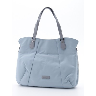Y'SACCS(bag) (イザック(バック)) レディース リサイクルナイロンフロントタック2wayトートMサイズ ライトブルー フリー
