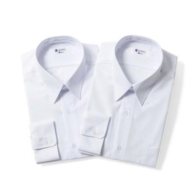 学生服 男子 長袖 スクールシャツ 2枚セット テトロン65% 綿35% 形態安定
