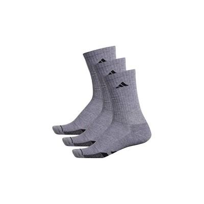 アディダス Cushioned II Crew Socks 3-Pack メンズ 靴下 ソックス Grey Heather/Grey Heather/Black Marl/Black
