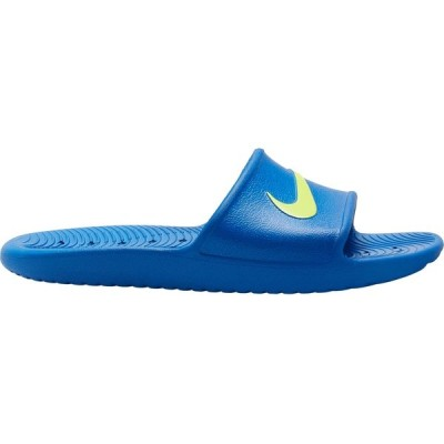 ナイキ サンダル シューズ メンズ Nike Men's Kawa Shower Slides GameRoyal/Volt