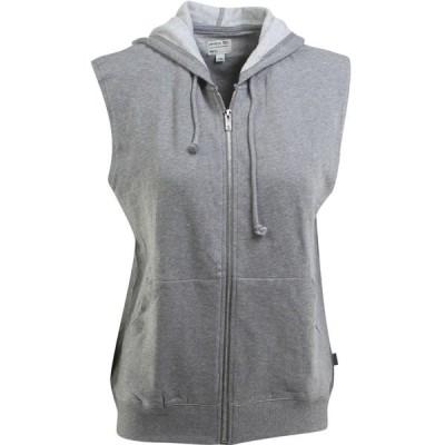 ルーカ RVCA レディース ベスト・ジレ トップス Label Mass Ruckus Fleece Vest gray/gray noise