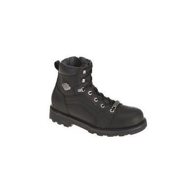 ハーレーダビッドソン?ブーツ シューズ 靴Harley-Davidson メンズ Lee 6-Inch ブラック レザー Motorcycle ブーツ. D96056