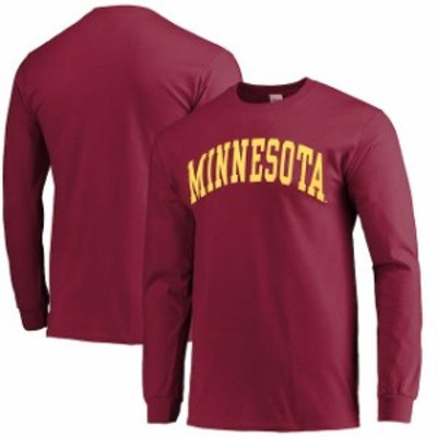 New Agenda ニュー アジェンダ スポーツ用品  Minnesota Golden Gophers Vertical Arch Long Sleeve T-Shirt - Maroon