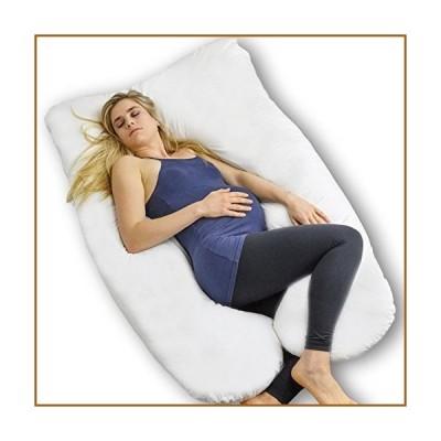 フルボディ妊娠枕???ExtraソフトのU型サポートクッションforマタニティ授乳and Back Pain Relief???100?%コットン