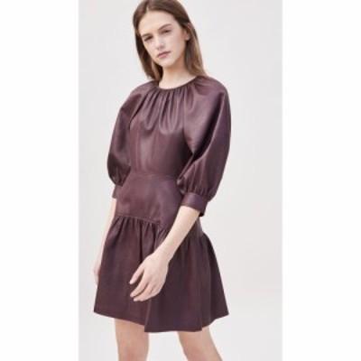 レベッカ テイラー Rebecca Taylor レディース ワンピース 七分袖 ワンピース・ドレス 3/4 Sleeve Vegan Leather Dress Port