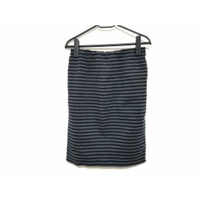 ドゥーズィエム DEUXIEME CLASSE スカート サイズ38 M レディース ダークグレー×黒 ボーダー【中古】