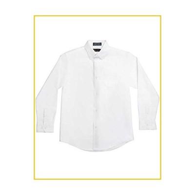 Nautica Boys' Big Solid Long-Sleeve Button-Down Shirt, White, 8