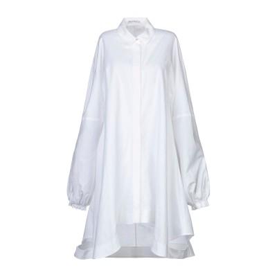 J.W.アンダーソン JW ANDERSON ミニワンピース&ドレス ホワイト 8 コットン 100% ミニワンピース&ドレス